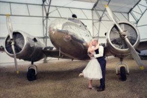 Hangar Flight Museum wedding